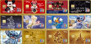 JCBのディズニー柄のクレジットカード