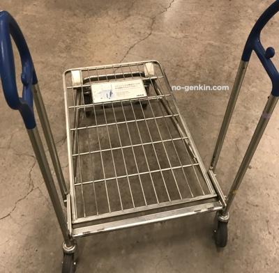 IKEAで大型家具を運ぶトロリー