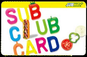 SUB CLUB CARD