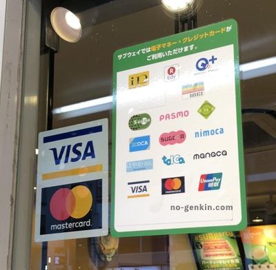 サブウェイで使えるクレジットカード