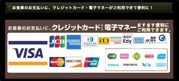 かっぱ寿司で使えるクレジットカード