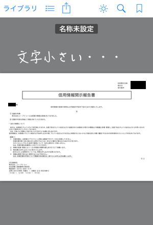 信用情報開示書(SP)