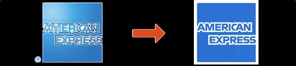 AMEXのロゴの変化