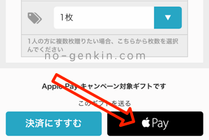 WEB(アプリ)でApplePay払い