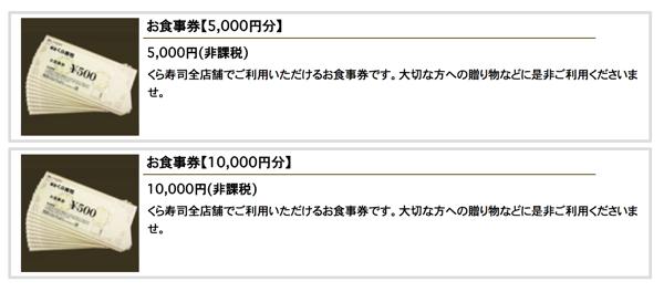 くら寿司の商品券