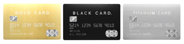 LUXURY CARD World Elite Mastercard(ゴールド、ブラック、チタン)