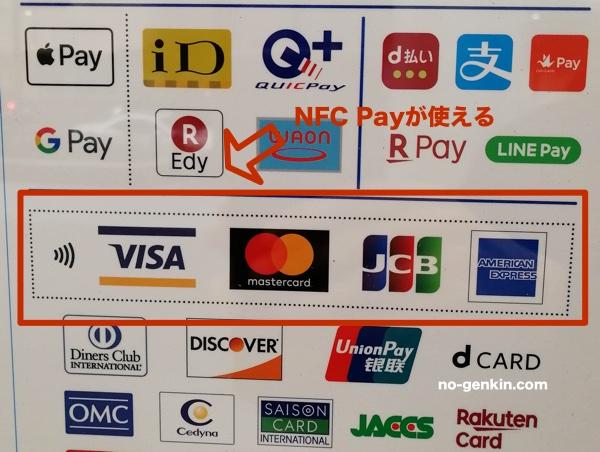 ローソンのアクセプタンスマーク(NFC Pay)