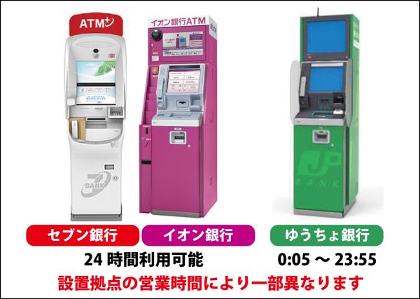 Visaデビット付きキャッシュカード(GMOあおぞらネット銀行)のATM拠点