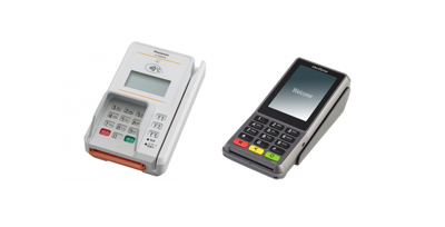 NFCの宣言が「クレジットで」の端末(JT-R600CR、P400)