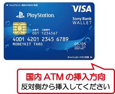 Sony Bank WALLETのキャッシュカードの利用方向