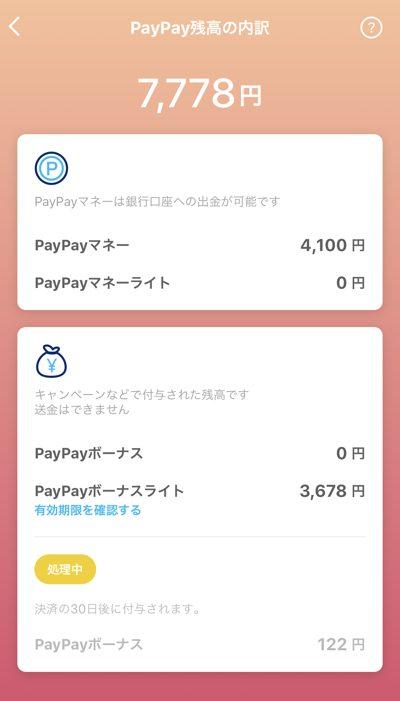 PayPay残高の種類